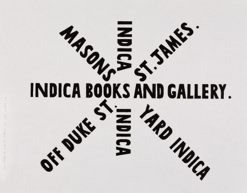 Paul McCartney-designed wrapping paper for Indica bookshop and gallery.