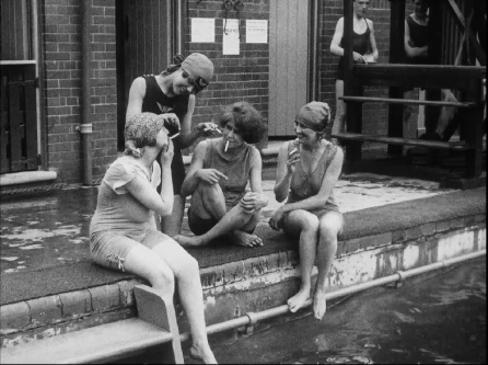 Chiswick swimming pool, via BFI National Archives.
