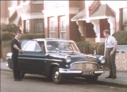 New car, Haringey, 1960s.