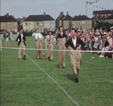 Company sack race, Dagenham, 1950s.