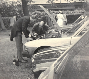 Fixing a car with champagne, Royal Ascot.
